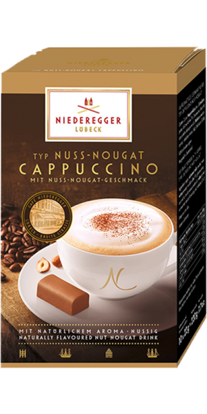 Typ Nuss-Nougat Cappuccino, 10 Stick-Portionbeutel-Copy